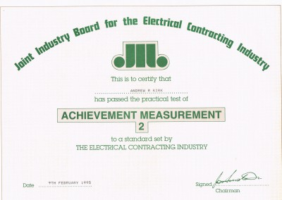 JiB AM2 Certificate